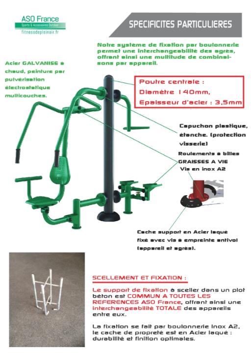Spécificités techniques Fitness de plein air - ASO France