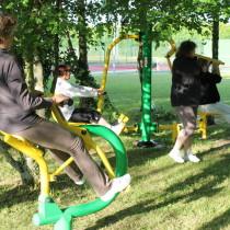 Aire de fitness en plein air en famille ASO France